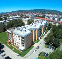 JUBIZOL fasadni sistem za prenovo stanovanjskega kompleksa v Zagrebu